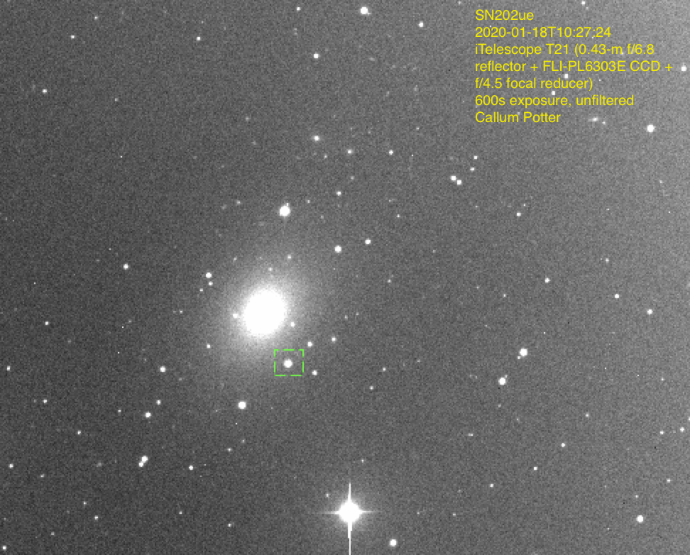SN2020ue on 2019 Jan 17.